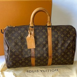 Authentic Louis Vuitton keepall 45 duffle travel